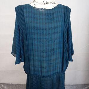 Vintage Marie Claire Semi Sheer Drop Waist Dress